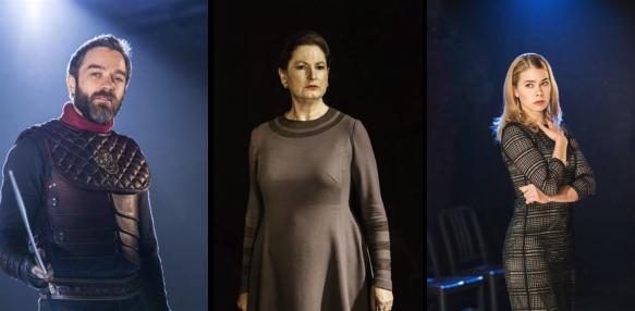 źródło: emmaforth.blogspot.com| Hadley Fraser jako Aufidiusz, Deborah Findlay jako Waleria, Birgitte Hjort Sørensen jako Wirgilia.