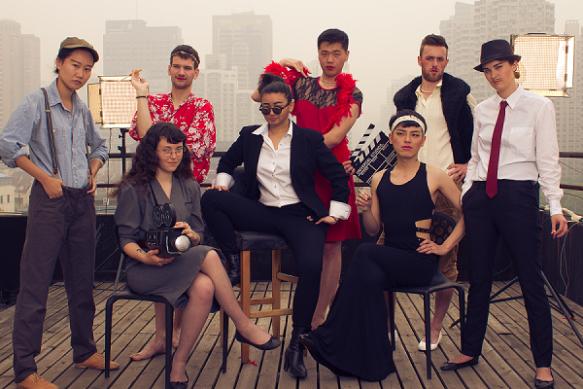 Dumna ekipa stojąca za PRIDE Shanghai Film Festival. Za: shpff-team-smaller
